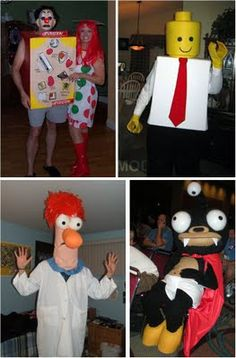 25 Awesome Halloween costumes *I vote for army man, sanders w chicken, and dino with man in cage, awesome.