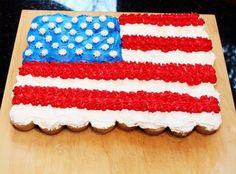 American Flag Cupcake Cake