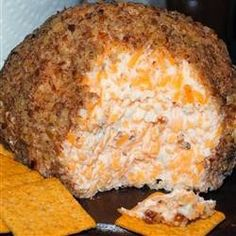 Buttermilk Ranch Cheeseball - This is one of my favorite appetizers for holidays. super easy to make, creamy, and delicious, I make my own dry ranch dressing mix and use a full pound of sharp cheddar cheese. You can use reduced fat cream cheese and not even notice the switch. If you really want the ranch flavor to shine, make this a couple days beforehand and let it set in the fridge,,