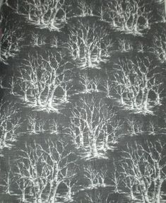 1950's British fabric design by David Whitehead . Black and white from luciacollectables on Ruby Lane