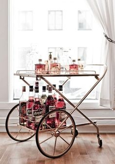 Bicycle-esque #bar cart