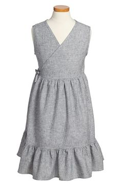 Tea Collection Chambray Wrap Dress (Toddler Girls, Little Girls & Big Girls) available at #Nordstrom