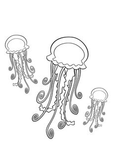 Online Coloring Pages, Class Projects, Jellyfish, Coloring Sheets, Art, Medusa, Craft Art, Coloring Worksheets, Colouring Sheets