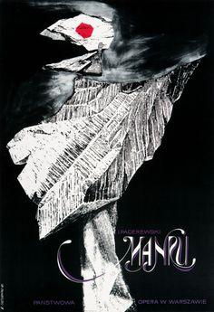 """ROMAN CIEŚLEWICZ plakat operowy """"Manru, I. Paderewski"""", 1961"""
