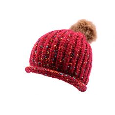 Bonnet Nyls Création Luce en mélangé Rouge #fisal #ski #freestyleskiing #skijumping