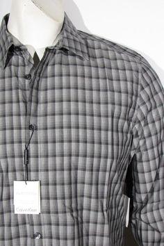 Calvin Klein multy check ginham long men's long sleeve shirt new ON SALE #CalvinKlein #ButtonFront