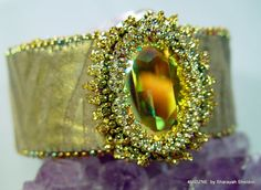 Tigeress Bead Embroidered Cuff Bracelet SALE NOW 115.00 WAS 155.00
