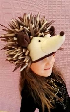 Handmade hedgehog costume hat