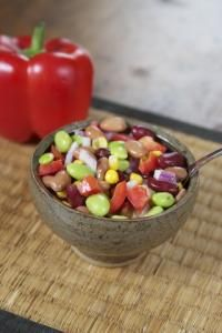 Kaleidoscope Bean Salad | All recipes with Trader Joes products for easy, quick, healthy meal ideas