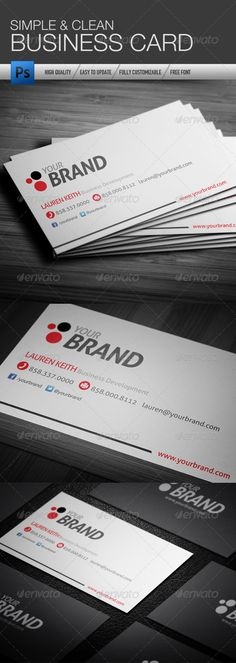 Value 300gsm business card great value business cards on 300gsm silk simple and clean business card graphicriver simple and clean business card was designed for exclusively corporate or small scale companies or individual colourmoves