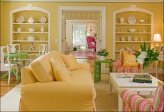 All photos from  Kelly Interior Design Service    This room is reminiscent of my house growing up in that it's a sea of 18th Cent...