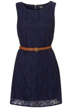 Navy lace.  Could be worn in so many ways.