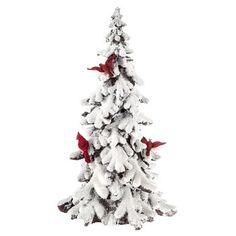 d8d2190fc37a Tree Decor with Cardinals   Snow