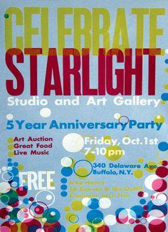 Startlight Studios Letterpress poster