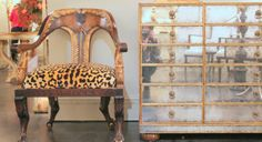 Leopard & vintage mirrored