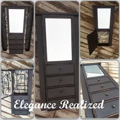 A Jewelry Stand, new fresh fabrics and a painted exterior to compliment. Follow me on @erealized Jewelry Stand, Compliments, Fabrics, Exterior, Fresh, Elegant, Diy, Furniture, Home Decor