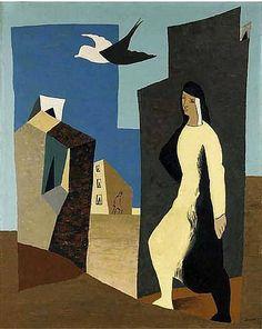 Femme et oiseau, 1927Léopold Survage - by style - Metaphysical art