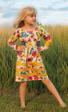 Rayann's Retro Dress & Top. PDF sewing pattern for toddler girl sizes 2t - 12. - Simple Life Company