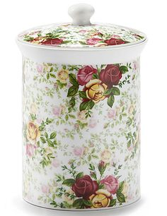 Royal Albert Country Rose Chintz Cookie Jar ** Check out the image by visiting the link. Royal Albert, Country Rose, Country Style, Cookie Jars, Cookie Containers, Storage Containers, Food Storage, Art Deco, China Patterns