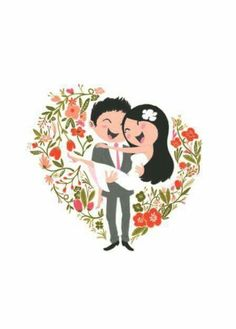Wedding Couple Clipart Mariage New Ideas Wedding Illustration, Couple Illustration, Illustration Art, Illustrations, Wedding Drawing, Wedding Art, Wedding Couples, Couple Clipart, Couple Cartoon
