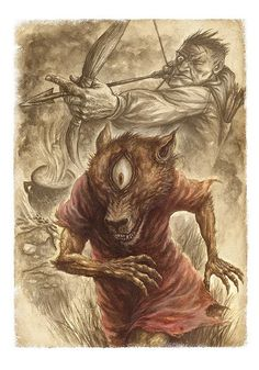 Psoglav (Serbian: Псоглави, literally doghead) is a chthonic demonic mythical creature in Serbian mythology; belief about it existed in parts of Bosnia and Montenegro. Psoglav was described as having a human body with horse legs, and dog's head with iron teeth and a single eye on the forehead.  Psoglavs were described to live in caves, or in a dark land, which has plenty of gemstones, but no sun. They practice anthropophagy, by eating people, or even digging out corpses from graves to eat…
