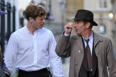 James Norton and Robson Green film Grantchester on King's Parade, Cambridge