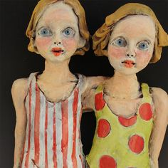 D and D double figure ceramic sculpture by by VictoriaRoseMartin