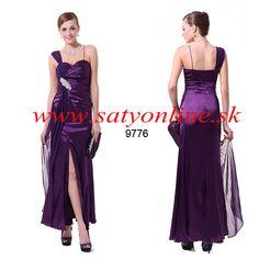 Fialové spoločenské šaty