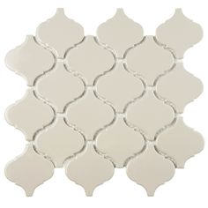 Unique lantern-shaped tiles provide a touch of elegant, old-world style to any indoor or outdoor wall or floor. Impervious to water and designed for medium-duty residential floors, these porcelain tiles are ideal for kitchens, bathrooms, and pool sides.