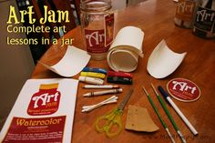 Art Jam - complete art lessons in a jar Art Camp, Art Lessons, Homeschooling, School Ideas, Art Projects, Clever, Crafts For Kids, Preschool, Artsy