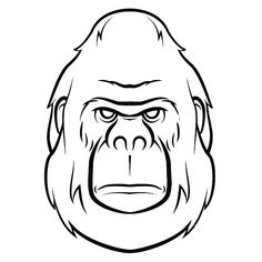 how to draw a realistic gorilla face
