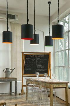 Lampada a sospensione / design originale / indoor / in nylon BIN LAVAGNA in-es artdesign