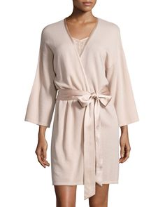 blush colored cashmere robe