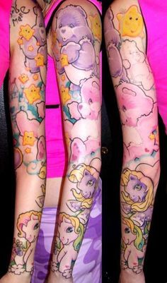 kawaii sleeve tattoo - Google Search
