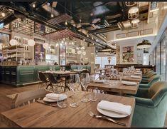 Design Bar Restaurant, Tapas Restaurant, Restaurant Interiors, Bar Design Awards, Tapas Bar, London Restaurants, Cafe Interior, Cafe Design, Design Design