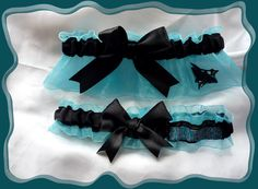 San Jose SHARKS NHL Ribbon Wedding Garter Set. $30.00, via Etsy.