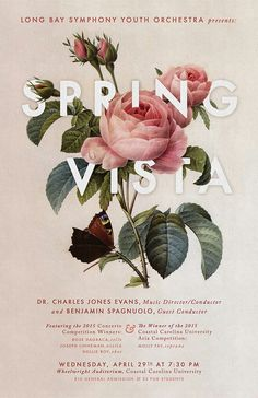 """""""LONG BAY SYMPHONY YOUTH ORCHESTRA Presents: SPRING VISTA""""... —""""FLORALS TYPOGRAPHY DESIGNS"""" App"""