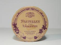 Korai Gerbeaud Pastilles de Violette csokoládé doboz / Vintage Chocolate Box, Candy Box