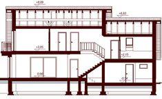 DOM.PL™ - Projekt domu DN KARMELITA BIS 2M CE - DOM PC1-47 - gotowy koszt budowy House Plans, Floor Plans, House Design, How To Plan, Modern, Furniture, Home Decor, Thailand, Gold