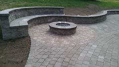 Fire pit with bench!