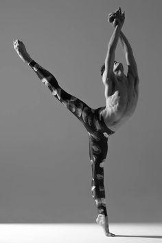 Dancer, male, man, guy, gracious, ballet, beauty, movement, body, stretch, photograph, photo b/w.