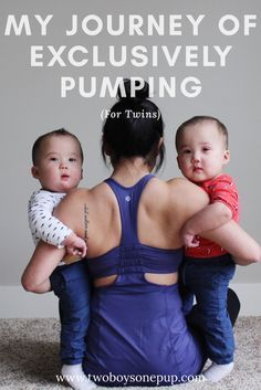 My journey of exclusively pumping for twins. If you're pregnant with twins, please read my experience pumping before you make a decision! Breastfeeding - pumping - tandem breastfeeding - twin mom - twin pregnancy - feeding twins - exclusive pumping - pregnancy - childbirth
