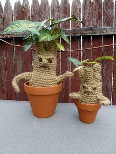 Mandrake and MiniMandrake Amigurumi Pattern by MilesofCrochet