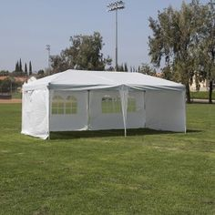 Pop Up 10 x 20 Heavy Duty Canopy Tent w/ 4 Walls. Designed to withstand the elements, this Easy Pop Up Canopy tent features simple easy to set up, with sturdy construction, and a classic look in one easy pop up tent. The classic design adds stability while providing shade on a warm spring day!