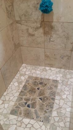 100 million year old greenstone conglomerate shower floor