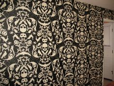 gothic wallpaper ... A little over powering..but cool.  Maybe as a feature wall...