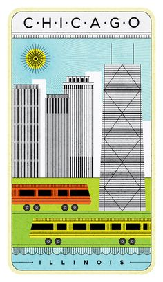 Love this Chicago illustration
