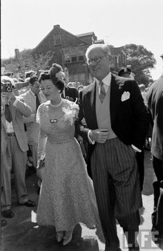 JFK's parents, Rose and Joe Sr., arriving at Jack and Jackie's wedding reception.