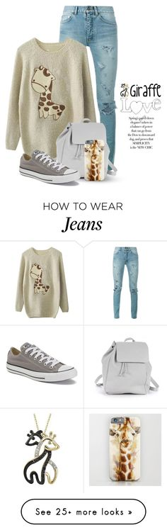 """""""Giraffe Love 1707"""" by boxthoughts on Polyvore featuring Yves Saint Laurent, Zara TRF, Target and Converse"""