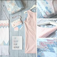 A plethora of pretty projects made with our Rose Quartz & Serenity cotton collection by @jackie_mcfee